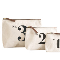Number 1, 2, 3 Pouch
