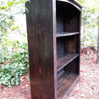 Bookcase - Rustic Farmhouse Wood Bookcase made from milled pine