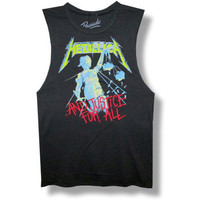 Metallica Men's  Justice Slim Fit T-shirt Black