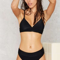 Nasty Gal Rippled Waters High-Waisted Bikini Bottom