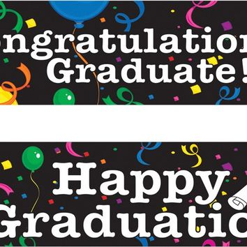 party supplies: graduation banners Case of 2