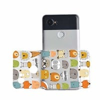 Cute Animals Pattern Phone Case for Google Phone Pixel 2 Google Phone Covers Emerishop (Google Pixel 2)