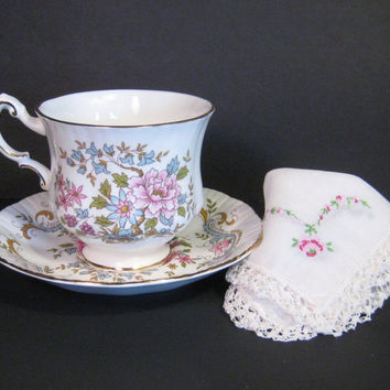 Royal Standard Teacup and Saucer English Mandarin Floral