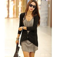 Autumn/Fall New Stylish One Size Cotton Women Black Outerwear@T204b