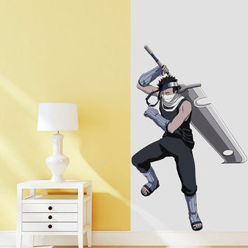 Zabuza Decal - Hero Printed and Die-Cut Vinyl Apply in any Flat Surface - Momochi Zabuza - Naruto Shippuden Wall Decal Sticker