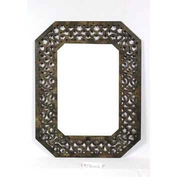 Screen Gems Mirror With Distressed Wood Frame