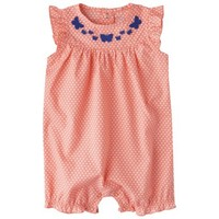 Just One You™Made by Carter's® Newborn Girls' Jumpsuit - Orange/White/Blue