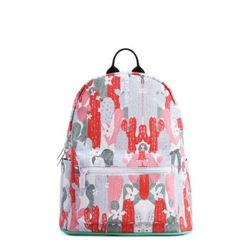 University College Backpack Epiphqny Fashion Brand Women Cute Floral  Color Cactus Printing Bags for School  Casual Designer WaterproofAT_63_4