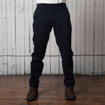 The Slim Casual Trouser   Navy Twill