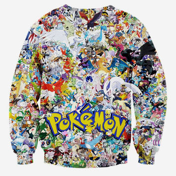 New Arrivals Men/boy 3d sweatshirt print Japanese Anime characters small animals long sleeve hoodies
