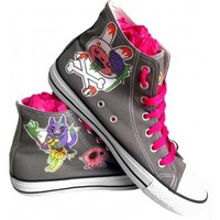 MOOMOONZ DEATH BY UNICORN LACED BOOTS