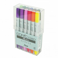 Too. Copic Marker Set - Ciao 12 Colors Pen Set - Japan Drawing Markers, Anime, Animation, Comic Manga Art Supplies - Non-Toxic, Entry Model