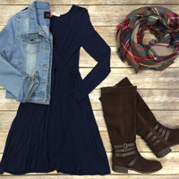 Wrap Dress: Navy