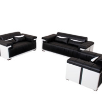 EA Leather Sofa Set, Italian Leather Sofa - Opulentitems.com