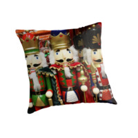 'Nutcracker Soldiers' Throw Pillow by Gravityx9