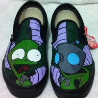 Invader Zim Gir custom Vans Skate / Slip on