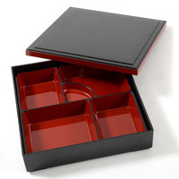 Traditional Black & Red Bento Box