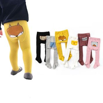 Spring Winter Cartoon Kids Girls Cotton Baby Tights Toddler Infant Casual Knitted Leg Warm Pantyhose Newborn Baby Stockings