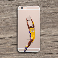 Kobe Bryant LA Lakers NBA Slamdunk iPhone Samsung Clear Case Series