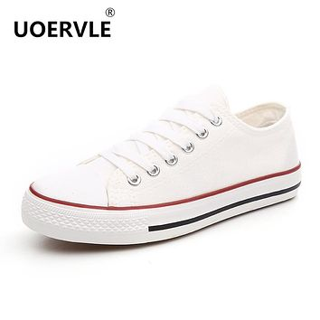 CLASSIC SHALLOW MOUTH WHITE WOMEN CANVAS SHOES