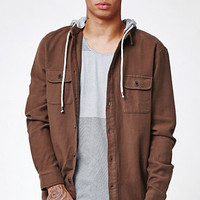 Globe Alma Hooded Long Sleeve Button Up Shirt at PacSun.com
