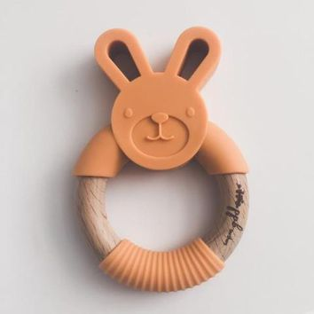 Bunny Ring Teether - Apricot