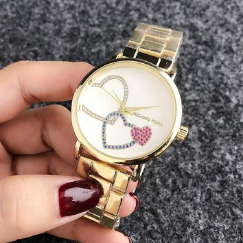 MICHAEL KORS MK Fashion New Dial Love Heart Diamond Quartz Women Watch