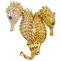Tiffany & Co Color Diamond Seahorse Brooch
