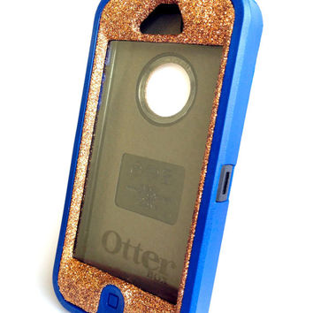 OtterBox Defender Series Case iPhone 5 Glitter Cute Sparkly Bling Defender Series Custom Case Blue / Sunstone