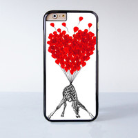 Cute Giraffe With Flying Ballon Plastic Case Cover for Apple iPhone 6 6 Plus 4 4s 5 5s 5c