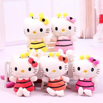 5pcs Plush toys for children kids baby toy lively lovely doll hello kitty cat toy Bouquets Accessory Decorations Christmas Gift
