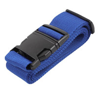Luggage Strap Blue Woven Adjustable Plastic Black Buckle