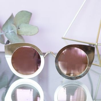 Quay Tainted Love Sunglasses Gold