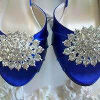 Bling Wedding Shoe Clips Swarovski Sparkling Crystal by Parisxox