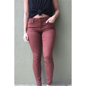 Articles of Society Sarah Release Hem Skinny Jean Warren - Brick