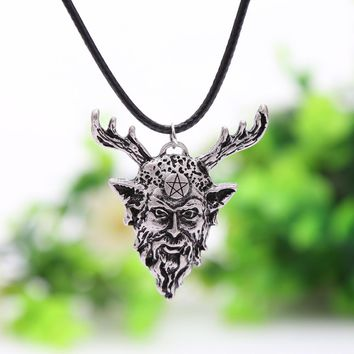 Celtic Horned God Pendant Lord of the Hunt Pagan Wiccan Amulet