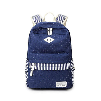 Stylish College Hot Deal On Sale Comfort Back To School Canvas Ladies Korean Casual Backpack [8384606215]