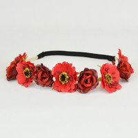 Crimson Flower Crown