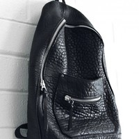 Black Lambskin Backpack | Khoi Le | Shop | NOT JUST A LABEL