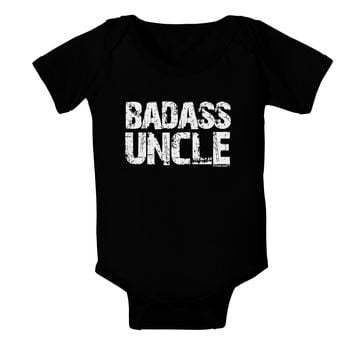Badass Uncle Baby Bodysuit Dark by TooLoud