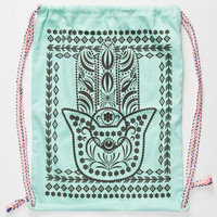 Hamsa Cinch Sack Mint One Size For Women 25612552301