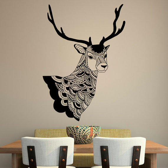 Deer wall decal country wall decals vinyl from for Deer mural decal