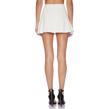 White A-Line Mini Skirt