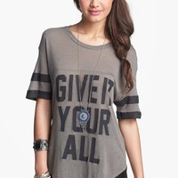 Lush 'Give It Your All' Graphic Athletic Tee (Juniors) | Nordstrom