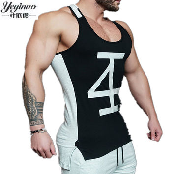 Fashion Men Cotton Tank Tops Sporting Military Singlets Style Vest Sexy Men's Bodybuilding Clothing Workout Tank Tops
