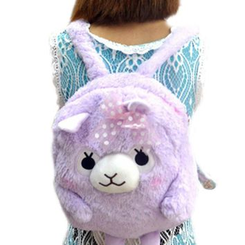 50pcs/lot Lovely Arpakasso Alpaca Soft Plush Backpack Shoulder Bag Lolita Girls Schoolbag For Child Pupil