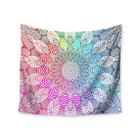 "Monika Strigel ""Rainbow Dots"" Wall Tapestry"