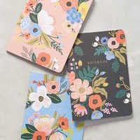 Rifle Paper Co. Penned Posies Journal Trio in Black Size: Set Of 3 Books