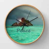 PEACE Wall Clock by catspaws