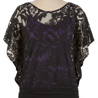 Lace Overlay 2Fer Top - maurices.com